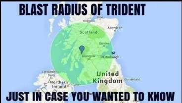 blast area of trident