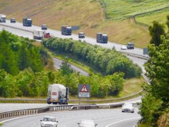convoy 9 July 2016 M74 Abington
